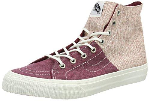 Vans Sk8-hi Decon Spt, Sneaker uomo Nero Black (Stripes - Washed/Tawny Port) 35