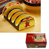 Carmelita Ceramic 4 Taco Maker Prep Holder Rack