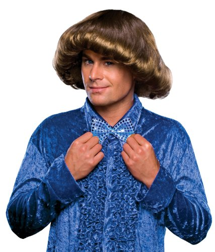 Rubie's Costume 70's Prom King Wig, Brown, One Size - 1