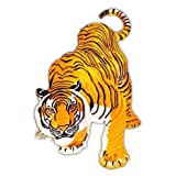 Backpatch Tiger XXL Jacket Large Back Patch Sew-on Iron-on Patches Embroidered Applique (Color: mix color)