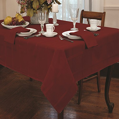 Eforcurtain shabby chic plaid oblong tablecloth polyester for 52 kitchen table