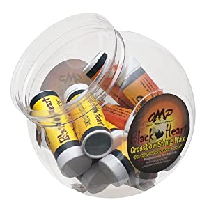 OMP BLACKHEART CROSSBOW STRING WAX COUNTER DISPLAY 10PACK 1OZ EACH by October Mountain Products