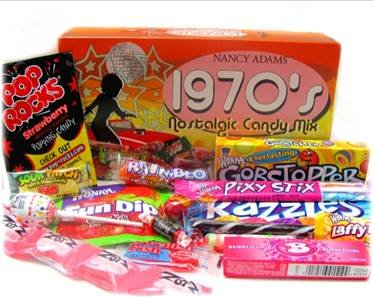 1970's Retro Candy Gift Box-Decade Box Gift Basket - Classic 70's Candy