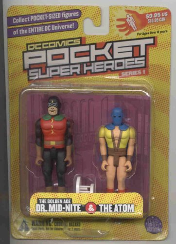 "DC Comics Pocket Super Heroes ""the Golden Age Dr Mid-Nite & The Atom"" - 1"