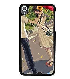 Printvisa Love Couple In A Sunflower Field Back Case Cover for HTC Desire 820::HTC Desire 820Q::HTC Desire 820S