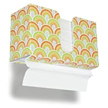 TrippNT 51910 Swirl Plastic Dual-Dispensing Paper Towel Holder, 11&#034; Width x 6&#034; Height x 4&#034; Depth