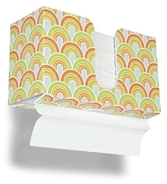 "TrippNT 51910 Swirl Plastic Dual-Dispensing Paper Towel Holder, 11"" Width x 6"" Height x 4"" Depth"