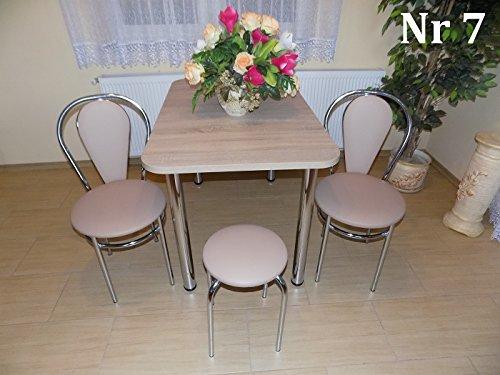 Design-Esstisch-Kchentisch-Bistrotisch-Sonoma-Eiche-mit-Chromfu-100x60