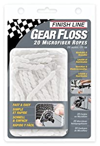Finish Line Gear Floss Microfiber Cleaning Rope Pack Of 20