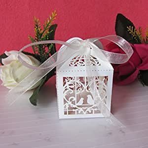 Shower Party Candy Boxes Bomboniere (Love Birds): Candy Dishes