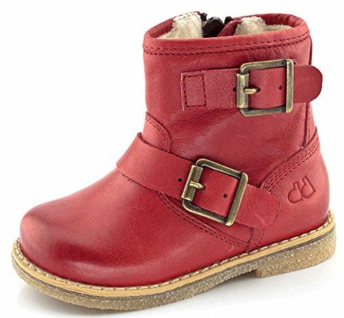 FRODDO Leder Stiefel rot Biker Boots Schafwolle gefüttert jetzt bestellen