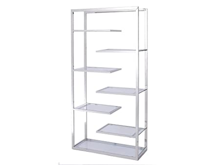 Shefford Stainless Steel and Glass Display Unit
