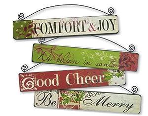 Wood Christmas Signs 4 Asst