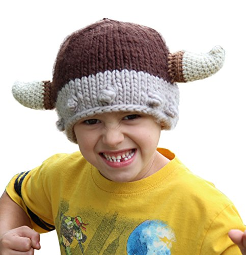 Viking Knit Hat for Boys and Girls Age 3-7