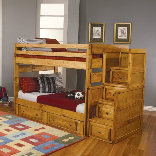Bunk Beds With Stairs 6335 front