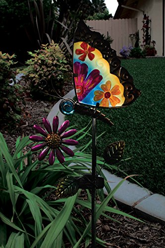 regal art and gift 10545 solar stake butterfly home regal art and gift flower wall decor 9 inch blue home