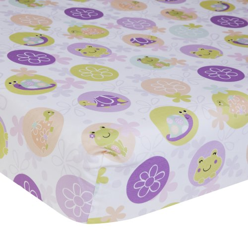 Lambs & Ivy Crib Fitted Sheet, Puddles front-1062657
