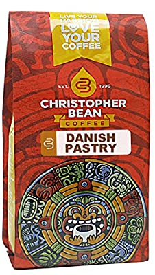 Christopher Bean Coffee Flavored Whole Bean Coffee, Danish Pastry, 12 Ounce