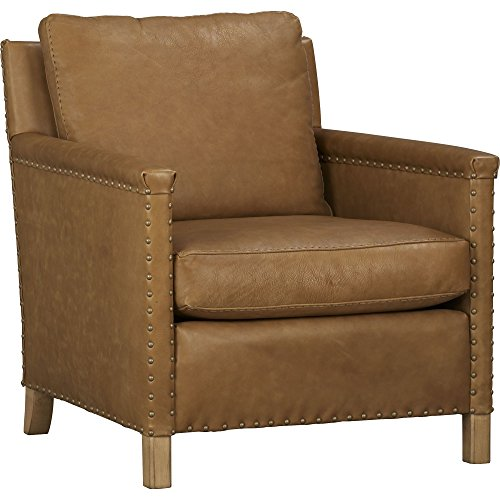 Crate And Barrel Trevor Leather Chair By Crate And Barrel