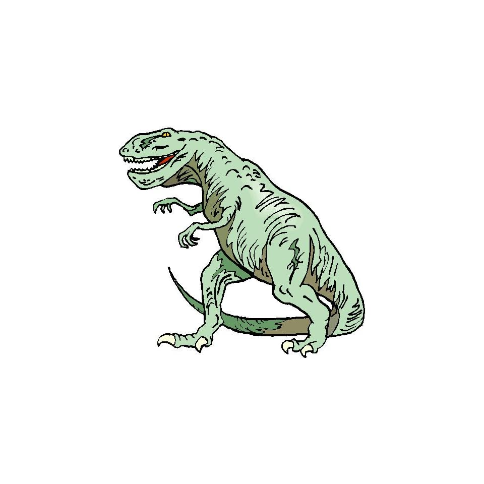 2 Tyrann. Rex   Walking Printed engineer grade reflective vinyl decal sticker for any smooth surface such as windows bumpers laptops or any smooth surface.