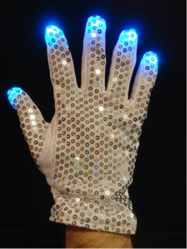 Multicolor Light Show Glitter Sequin Raver Glove