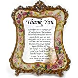 "Thank You Dad Wedding Gifts - Personalised, ""Thank You Dad"" From Groom, Appreciation Gift Frame with Unique Verse"