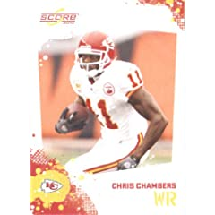 Chris Chambers - Kansas City Chiefs - 2010 Score Football Card - NFL Trading Card in...