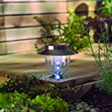 Outdoor Solar Decor Lantern - LED Stainless Steel Garden Light