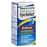 Bausch & Lomb Advanced Eye Relief Lubricant/Redness Reliever Eye Drops, Instant Relief, Redness, .5 oz.
