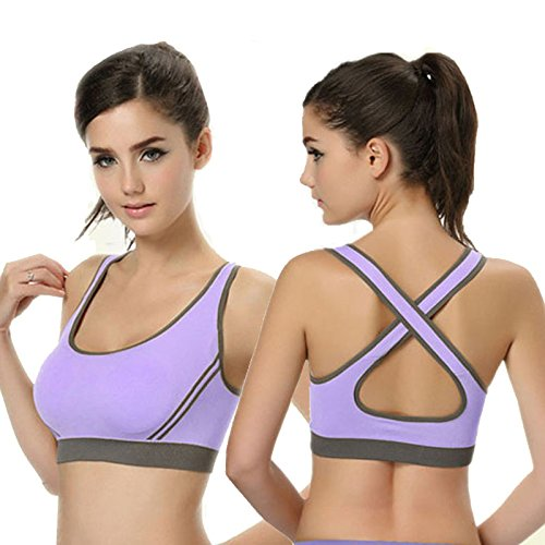 Meily(TM) Women Padded Bra Racerback Top Athletic Vest Gym Fitness Sports Yoga Stretch Tops