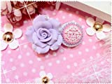 Umiwe(TM) Cute 3D Bling Purple Anna Sui Flower(Light Purple) Eye Care Contact Lens Case With Umiwe Accessory Peeler