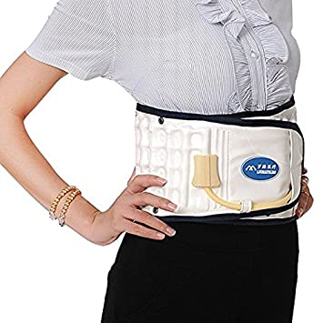 Decompression Back Relief Belt Waist Lumbar Brace Spinal Inflatable Traction L Size