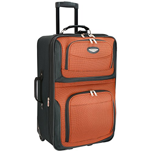 Travelers Choice Travel Select Amsterdam 25-Inch Expandable Rolling Upright, Orange, One Size (Lightweight Upright Suitcase compare prices)
