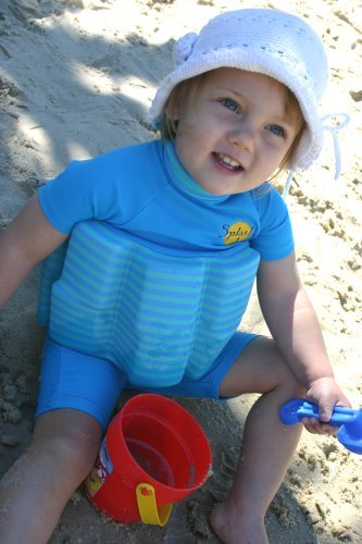 Splash About About-Sun Protection 50+ Floatsuit With Adjustable Buoyancy: Blue Lagoon Stripe, 1 To 2 Years