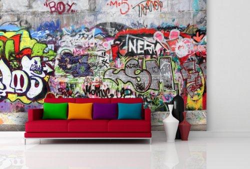 fototapete urban graffiti in verschiedenen gr en als papiertapete oder vliestapete w hlbar. Black Bedroom Furniture Sets. Home Design Ideas