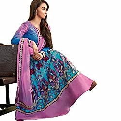 Beautiful and Charming Lauren Gottlieb Lawn Cotton Anarkali Style Embroidered Suit