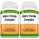 3 Bottles Nitric Oxide Complex 3500mg Per Serving NO2 L-Arginine HCL AAKG AKG Alpha Ketoglutarate Citrulline Malate 270 Total Capsules KRK Supplements