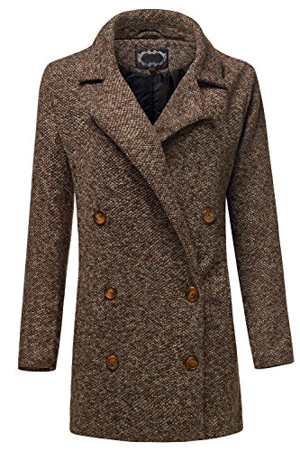 Man's Wear Inspired Tailored Oversized Coat Jackets (British Plaid Coat compare prices)