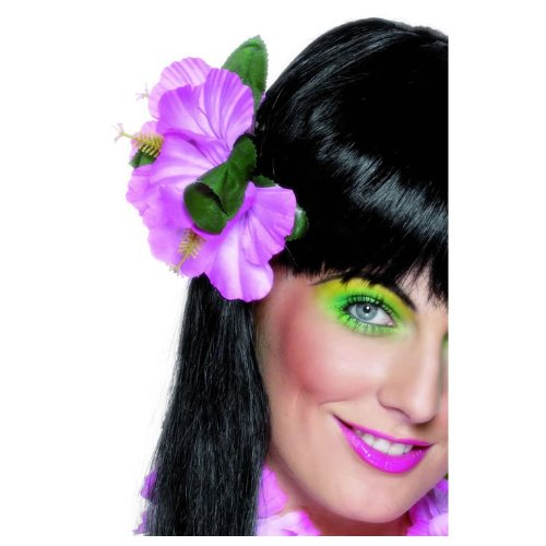 Smiffy's Women's Hawaiian Flower Hair Clip, Pink, One Size - 1