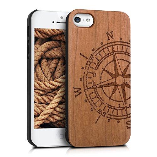 kwmobile-schutzhulle-fur-apple-iphone-se-5-5s-holz-kunststoff-hardcase-cover-handy-hulle-mit-kompass