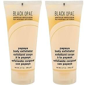 Black Opal Papaya Gentle Body Exfoliator 6.7oz Aloe Vera Acne Blemish Control(PACK OF 2)