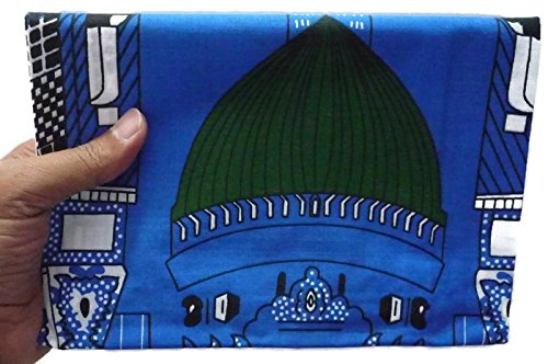 Muslim Portable Prayer Rug Thin Cloth Islamic Namaz Sajadah School Camping Backpack Travel Office Sajjadah - Blue