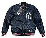 (マジェスティック)MAJESTIC MLB ニューヨーク ヤンキース サテン スタジャン XL NAVY(ネイビー)
