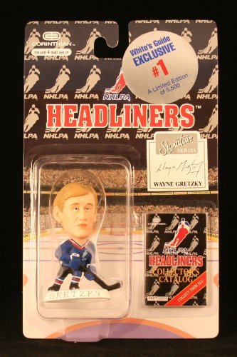 WAYNE GRETZKY / NHLPA (WHITE'S GUIDE EXCLUSIVE #1) 1996 NHL Headliners Hockey Collector * 3 INCH * Limited Edition Figure (5,500 Pieces Produced)
