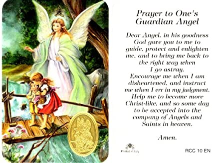 Guardian Angels Prayer Guardian Angel Prayer Card