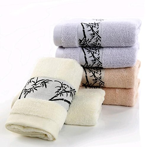 "6-pieces Bamboo Towels Hand Towels for Bathroom Towels Sets 13""x30""(32cmx76cm)"