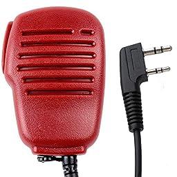 IFeng® 2 PIN Handheld Microphone Mic Speaker for Walkie Talkie BaoFeng UV-5RE+ UV-B5 UV-B6 UV-82 Keenwood TK-2102 TK-2107 TK-2118 TK-2160 TK-3100 TK-3101(Red)