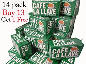 Cafe La Llave (14 Pack) 10 Oz Coffee Ground