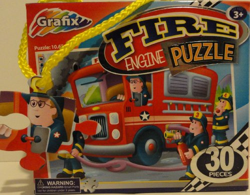 Grafix 30 Piece Fire Engine Puzzle - 1