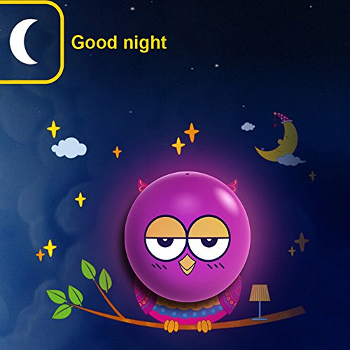 coffled ® Wall Sticker Lamp DIY Fun Atmosphere Light Control Induction Wallpaper Night Light, Owl